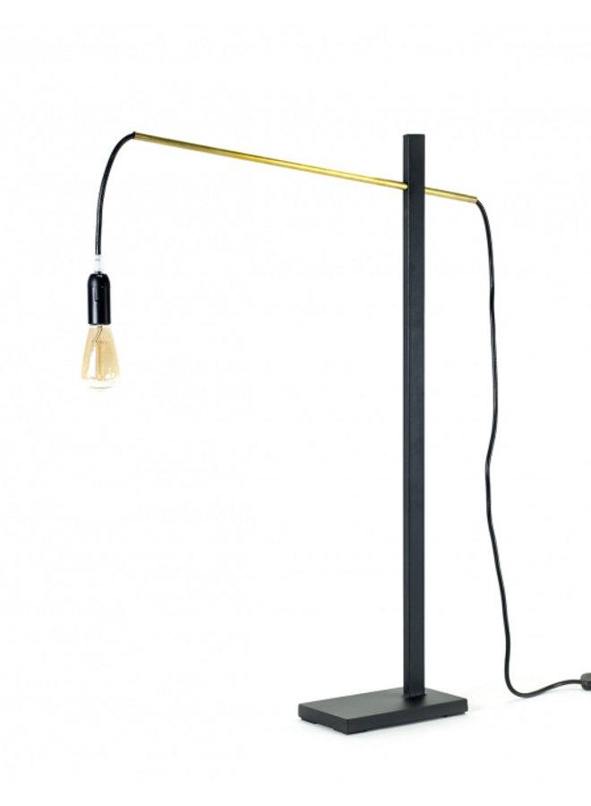 FLOOR LAMP S METAL SCULPTURES H73CM