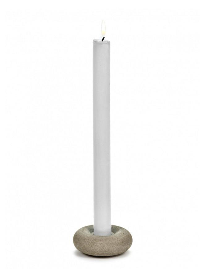 CANDLE HOLDER BRICK L7,5 x W7,5 x H3 CM CONCRETE