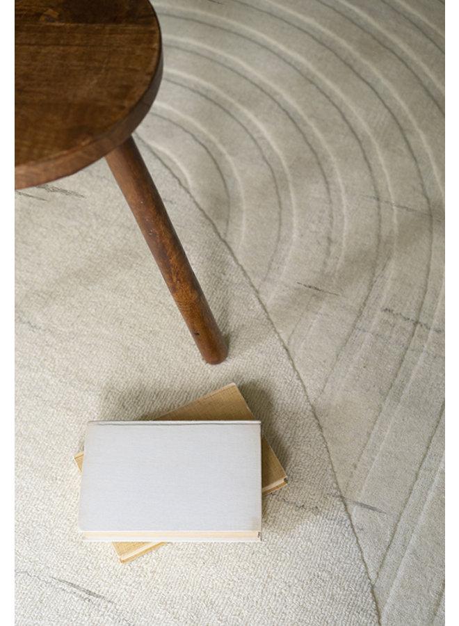CIRCULAR WOOL RUG OFF WHITE 180 x 270 CM