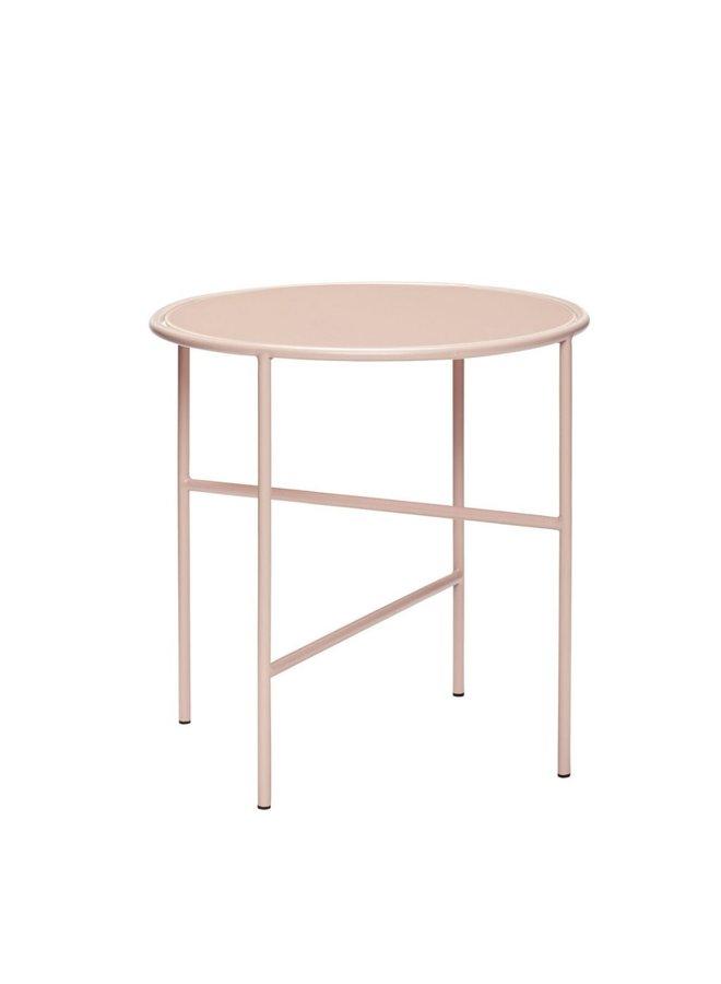 TABLE, GLASS/METAL ROZE