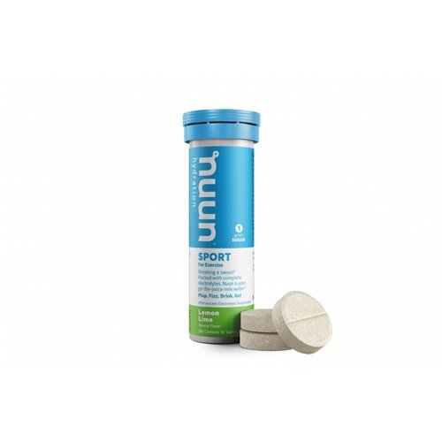 Nuun Lemon Lime - Nuun Sport Sportdrank 1 buisje a 10 Tabletten