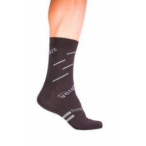 veloToze Velotoze Merino Cycling Sock Active Compression - Black