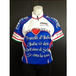 FL Fratelli d'Italia wielershirt - blauw
