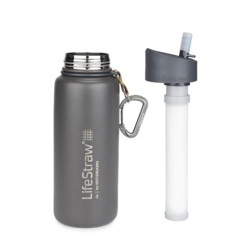 LifeStraw LifeStraw Go 0,7 Liter Stainless Steel Grey