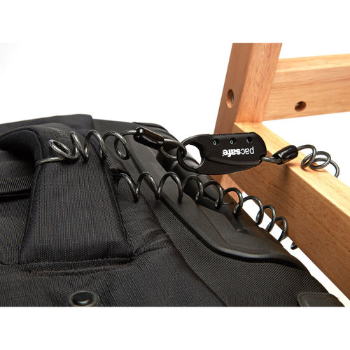 Pacsafe Pacsafe - TSA 3-Dial Clip Cable Lock - Black