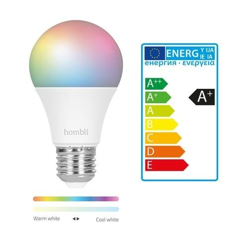 Hombli Hombli Smart Lamp LED Gekleurd E27 9W