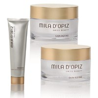 Mila D'Opiz Skin Refine combinatie set van Rejuvenesse Cream, Lifting Eyecream en Creamy Cleansing Foam