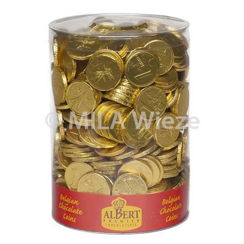 Tube chocolade gouden geld - 2  kg
