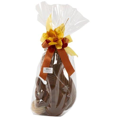 Eekhoorn, deco beige - 300 gr - 28 cm - geschenkverpakking - in fijne Callebaut chocolade
