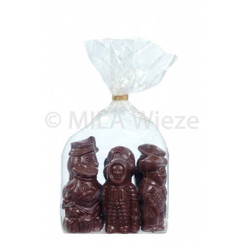 Chocolade Sinterklaasfiguren 8 x 250 gr - fijne Callebaut chocolade