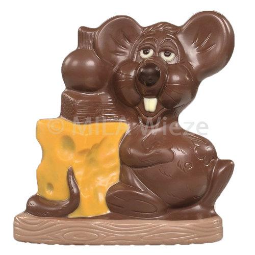Muis met kaas - deco geel - 4 x 125 gr - in fijne Callebaut chocolade