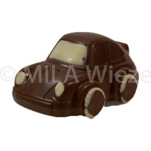 Chocolade auto Porsche - deco beige - 12 x 90 gr - in fijne Callebaut chocolade