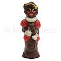 Lachende Piet - deco rood, geel & wit - 10 x 90 gr - in fijne Callebaut chocolade
