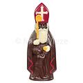 Sint met kind - deco rood, geel & wit - 10 x 90 gr - in fijne Callebaut chocolade