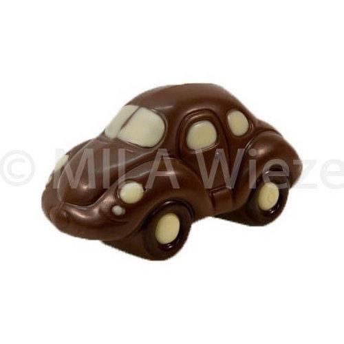 Chocolade auto beetle - deco beige - 12 x 50 gr - in fijne Callebaut chocolade