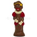 Lachende Piet - deco rood, geel & wit - 18 x 35 gr - in fijne Callebaut chocolade