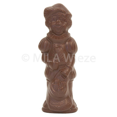 Lachende Piet - 250 gr - 25 cm - verpakt in mica - fijne Callebaut chocolade