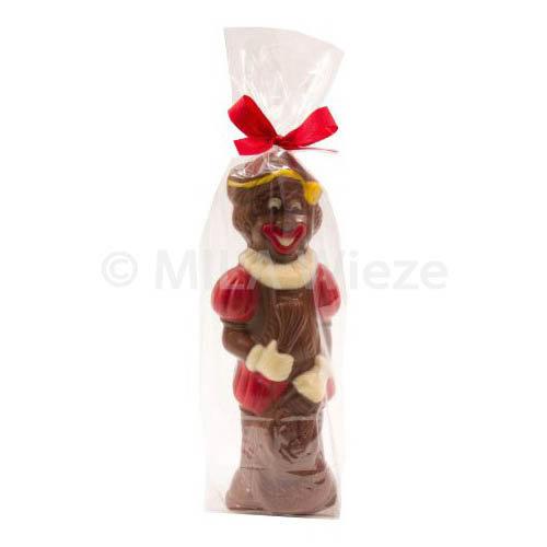 Piet - 90 gr - 18 cm - verpakt in mica - fijne Callebaut chocolade
