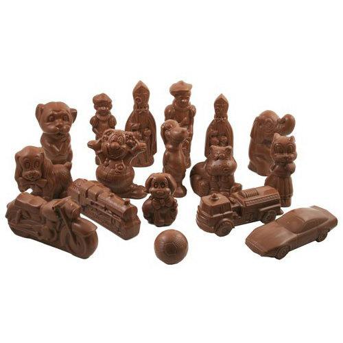 Sinterklaas figuren - 1,5 kg - SUIKERVRIJ - fijne Callebaut chocolade