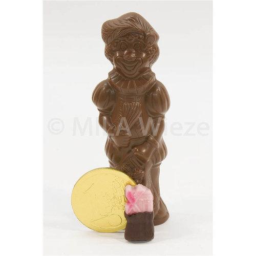 Chocolade Piet 250 gr met snoepgoed van de Sint