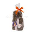 Chocolade Sint en Piet - 2 x 90 gr met snoepgoed van de Sint