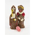 Chocolade Sint en Piet deco - 2 x 90 gr met marsepein