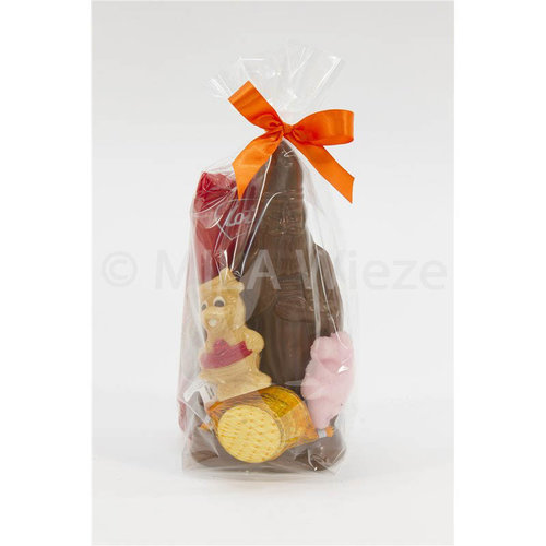 Chocolade Sint 125 gr met snoepgoed van Sinterklaas