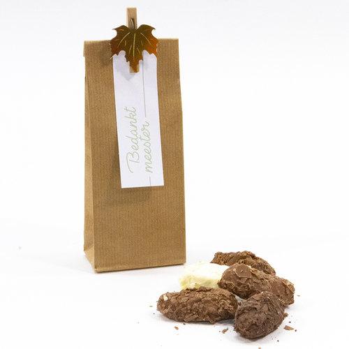 Pakketje dag van de leerkracht: craft zakje met schilfertruffels