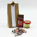 Pakketje dag van de leerkracht: craft zakje met confiserie