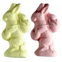 Klein guimauve konijntje roos-geel