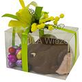 Mica doos met chocolade dwergkonijn en paaseitjes