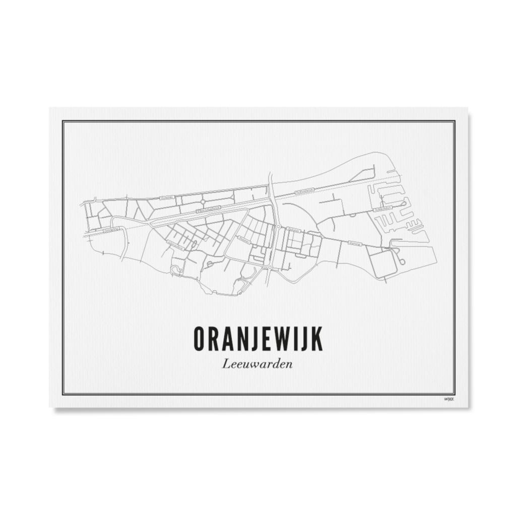 WIJCK WIJCK poster Leeuwarden Oranjewijk