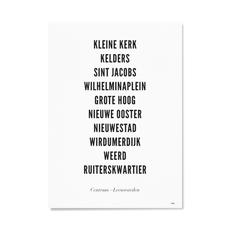 WIJCK WIJCK poster Leeuwarden  Centrum Typografisch