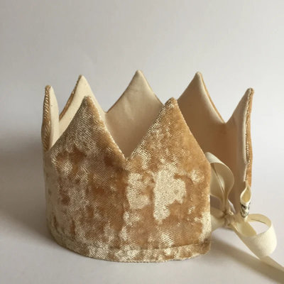 SUUSSIES SUUSSIES crown Velvet gold