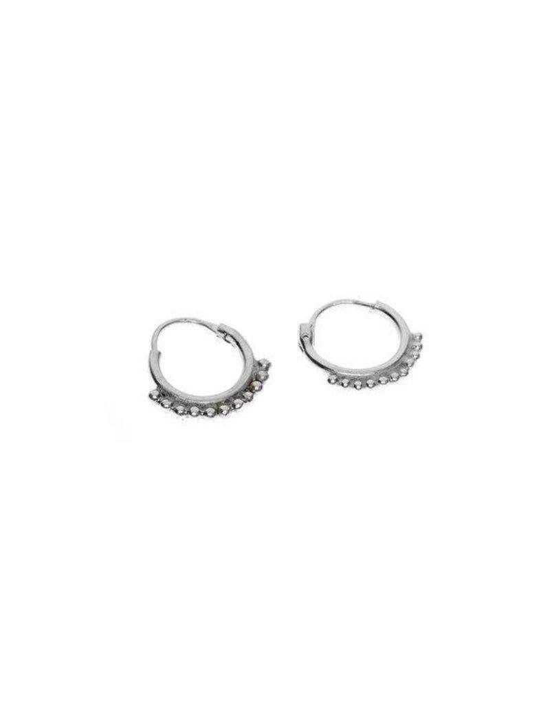 oorbel dots ring zilver