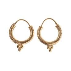 Oorbellen spiral gold-plated