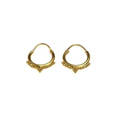 Oorbellen multi dots 9.5 mm gold-plated