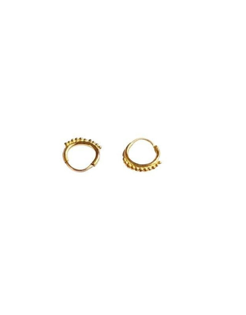 Oorbel dots ring gold-plated
