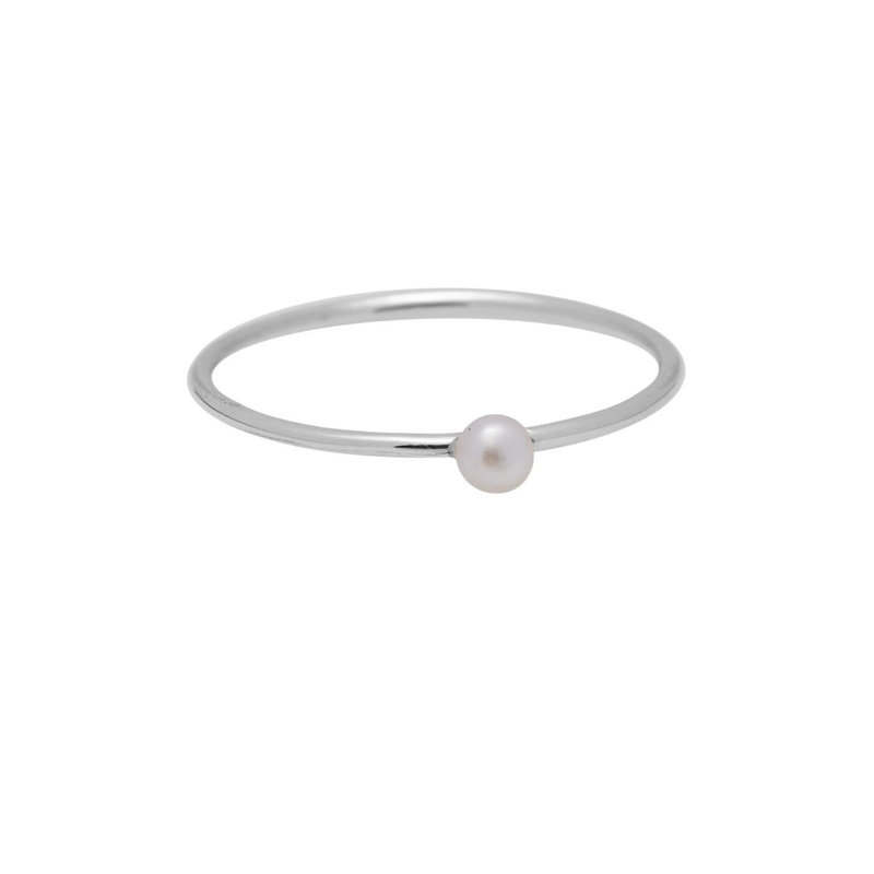 Ring tiny pearl zilver