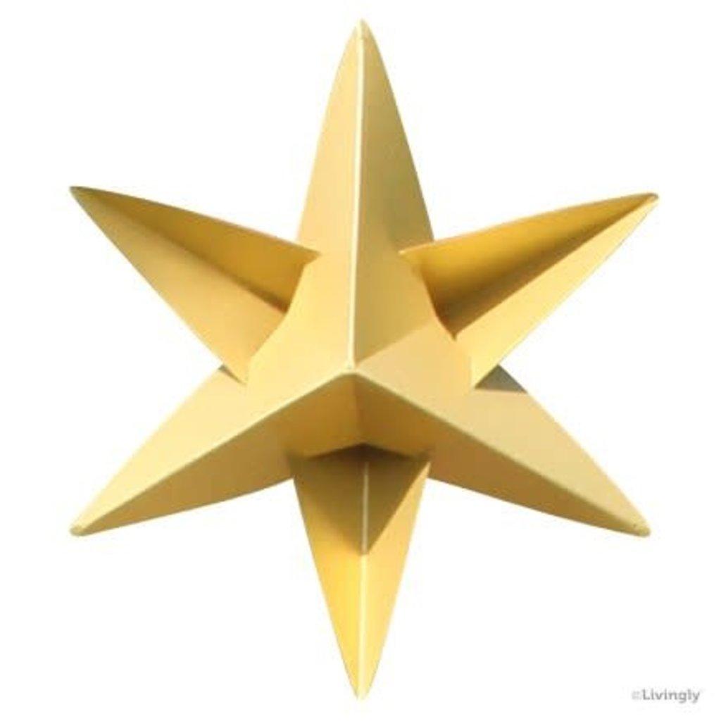 LIVINGLY Papieren kerstster goud, 4 stuks per set