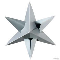 LIVINGLY Papieren kerstster zilver, 4 stuks per set