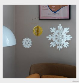 LIVINGLY mobiel Snowflake wit/goud