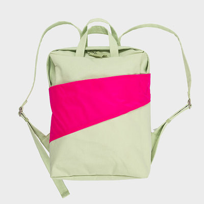 SUSAN BIJL SUSAN BIJL Backpack one-size pistachio-pretty pink