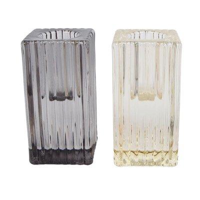 Kandelaar Glennis L glas 4x4x8cm