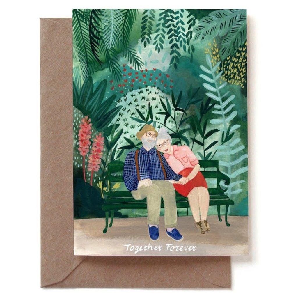REDDISH DESIGN Together forever postcard