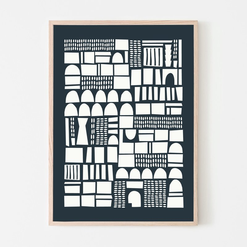 SILVIA VISSCHER Poster   geometric 03
