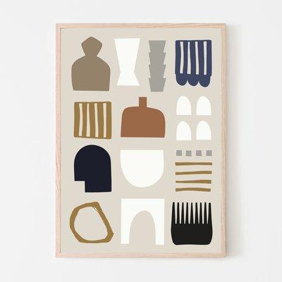 SILVIA VISSCHER Poster | shapes 03