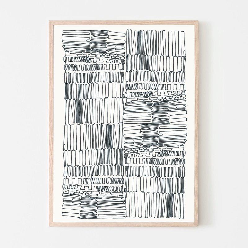 SILVIA VISSCHER Poster | lines