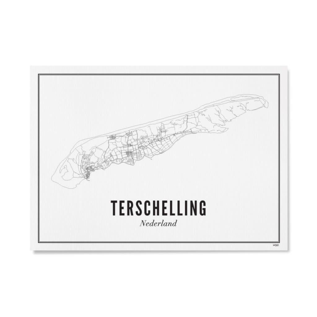WIJCK Wijck poster Wadden Terschelling