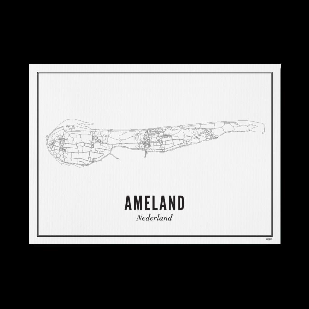 WIJCK Wijck poster Wadden Ameland